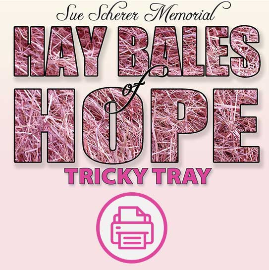 Printable form for pink hay bale